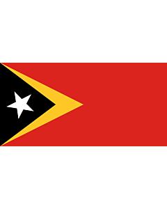 Flag: Timor-Leste |  landscape flag | 0.375m² | 4sqft | 50x75cm | 1.5x2.5ft