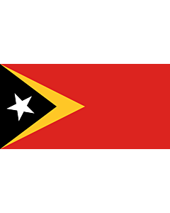 Flag: Timor-Leste |  landscape flag | 6.7m² | 72sqft | 200x335cm | 6x11ft