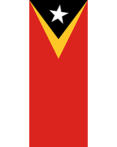 Vertical Hanging Beam Flag: Timor-Leste |  portrait flag | 3.5m² | 38sqft | 300x120cm | 10x4ft