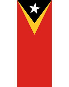Ausleger-Flagge:  Osttimor (Timor-Leste)  |  Hochformat Fahne | 3.5m² | 300x120cm