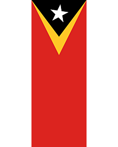 Vertical Hanging Beam Flag: Timor-Leste |  portrait flag | 6m² | 64sqft | 400x150cm | 13x5ft