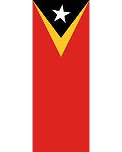 Ausleger-Flagge:  Osttimor (Timor-Leste)  |  Hochformat Fahne | 6m² | 400x150cm