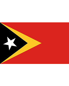 Table-Flag / Desk-Flag: Timor-Leste 15x25cm