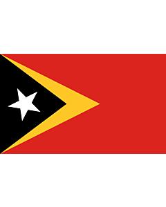 Tisch-Fahne / Tisch-Flagge: Osttimor (Timor-Leste) 15x25cm