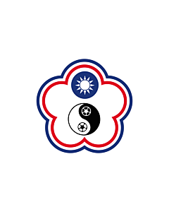 Bandera: Chinese Taipei Football team | Chinese Taipei Football team flag-other version | 中華台北足球代表隊旗 | 中華台北足球代表隊旗 / Tiong-huâ Tâi-pak tsiok-kiû tāi-piáu-tuī kî |  bandera paisaje | 1.35m² | 90x150cm