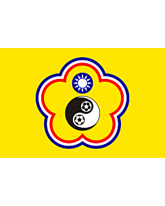 Flag: Used by the Chinese Taipei Football Association until 2006 aprox |  landscape flag | 2.16m² | 23sqft | 120x180cm | 4x6ft