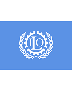 Indoor-Flag: International Labour Organization 90x150cm