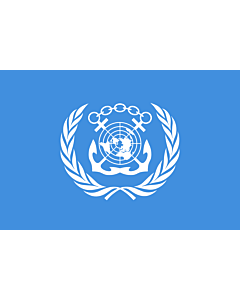 Flag: International Maritime Organization |  landscape flag | 3.75m² | 40sqft | 150x250cm | 5x8ft