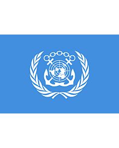 Bandera de Mesa: International Maritime Organization 15x25cm
