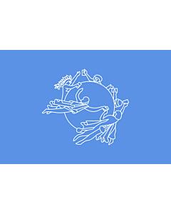 Bandera de Interior para protocolo: UPU | Universal Postal Union | L Union postale universelle | Weltpostverein | Dell Unione Postale Universale | Прапор Всесвітнього поштового союзу 90x150cm