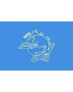Bandera de Mesa: UPU | Universal Postal Union | L Union postale universelle | Weltpostverein | Dell Unione Postale Universale | Прапор Всесвітнього поштового союзу 15x25cm