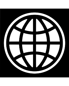 Bandera de Interior para protocolo: Banco Mundial, BM 90x150cm