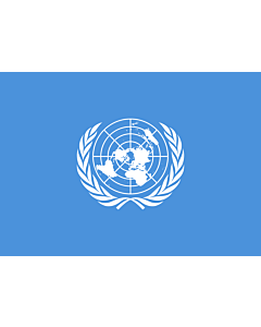 Flag: United Nations, UN |  landscape flag | 0.7m² | 7.5sqft | 70x100cm | 2x3ft