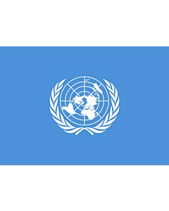 Bandera: Organización de las Naciones Unidas, ONU, NN. UU. |  bandera paisaje | 0.7m² | 70x100cm