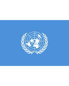 Drapeau: Organisation des Nations unies, ONU |  drapeau paysage | 3.375m² | 150x225cm
