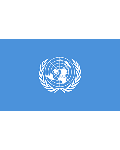 Flag: United Nations, UN |  landscape flag | 6.7m² | 72sqft | 200x335cm | 6x11ft