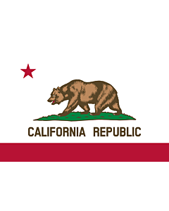 Bandera de Interior para protocolo: California 90x150cm