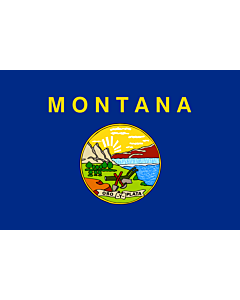 Flag: Montana |  landscape flag | 0.375m² | 4sqft | 50x75cm | 1.5x2.5ft