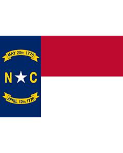 Flag: North Carolina ( |  landscape flag | 0.375m² | 4sqft | 50x75cm | 1.5x2.5ft