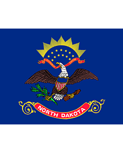 Flag: North Dakota |  landscape flag | 0.375m² | 4sqft | 55x70cm | 20x27inch