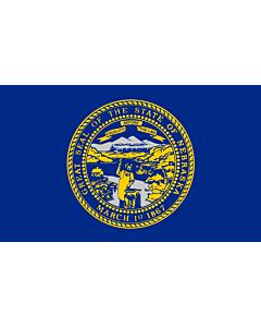 Flag: Nebraska |  landscape flag | 0.375m² | 4sqft | 50x75cm | 1.5x2.5ft