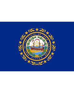 Bandera: Nuevo Hampshire |  bandera paisaje | 0.375m² | 50x75cm