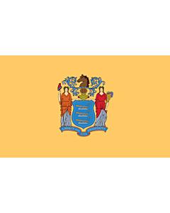 Flag: New Jersey |  landscape flag | 0.375m² | 4sqft | 50x75cm | 1.5x2.5ft