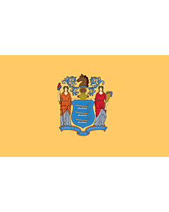 Bandera: Nueva Jersey |  bandera paisaje | 0.375m² | 50x75cm