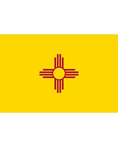 Flag: New Mexico |  landscape flag | 0.375m² | 4sqft | 50x75cm | 1.5x2.5ft