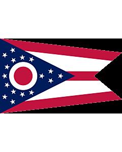 Flag: Ohio |  landscape flag | 0.24m² | 2.5sqft | 40x60cm | 1.3x2foot
