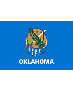 Flag: Oklahoma |  landscape flag | 0.24m² | 2.5sqft | 40x60cm | 1.3x2foot