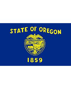 Flag: Oregon |  landscape flag | 0.24m² | 2.5sqft | 40x60cm | 1.3x2foot