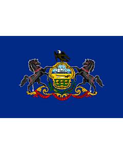 Bandera: Pensilvania |  bandera paisaje | 0.24m² | 40x60cm