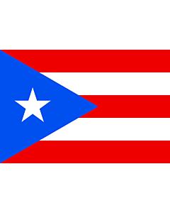 Bandera: Puerto Rico |  bandera paisaje | 0.24m² | 40x60cm