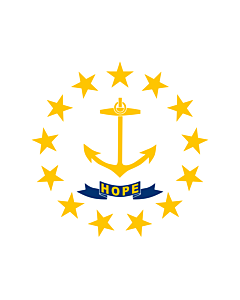Flag: State of Rhode Island and Providence Plantations |  landscape flag | 0.24m² | 2.5sqft | 45x50cm | 18x20inch