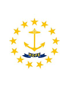 Bandera: Estado de Rhode Island y Plantaciones de Providence |  bandera paisaje | 0.24m² | 45x50cm
