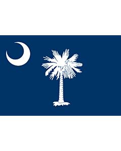 Flag: South Carolina |  landscape flag | 0.24m² | 2.5sqft | 40x60cm | 1.3x2foot