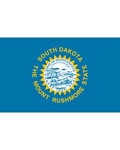 Flag: South Dakota |  landscape flag | 0.24m² | 2.5sqft | 40x60cm | 1.3x2foot