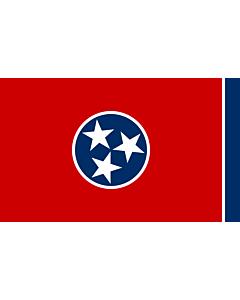 Flag: Tennessee |  landscape flag | 0.24m² | 2.5sqft | 40x60cm | 1.3x2foot