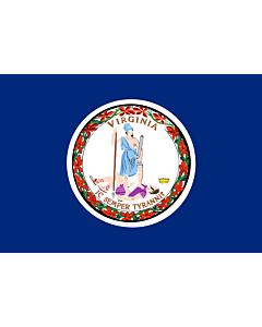 Bandera: Virginia |  bandera paisaje | 0.24m² | 40x60cm