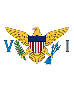 Indoor-Flag: Virgin Islands of the United States 90x150cm