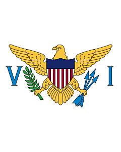 Bandera de Mesa: Islas Vírgenes de los Estados Unidos 15x25cm