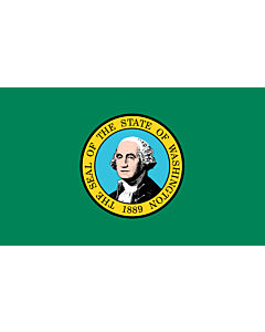 Flag: Washington |  landscape flag | 0.24m² | 2.5sqft | 40x60cm | 1.3x2foot