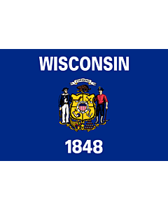 Flag: Wisconsin |  landscape flag | 0.24m² | 2.5sqft | 40x60cm | 1.3x2foot