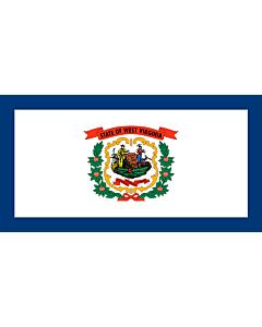 Flag: West Virginia |  landscape flag | 0.24m² | 2.5sqft | 35x70cm | 15x27inch