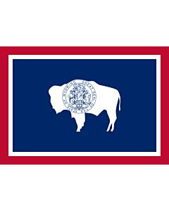 Flag: Wyoming |  landscape flag | 0.24m² | 2.5sqft | 40x60cm | 1.3x2foot