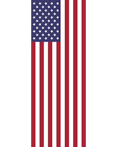 Bandera: Estados Unidos |  bandera vertical | 6m² | 400x150cm