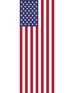 Vertical Hanging Beam Flag: United States |  portrait flag | 6m² | 64sqft | 400x150cm | 13x5ft