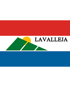 Flag: Lavalleja Department |  landscape flag | 6.7m² | 72sqft | 200x335cm | 6x11ft