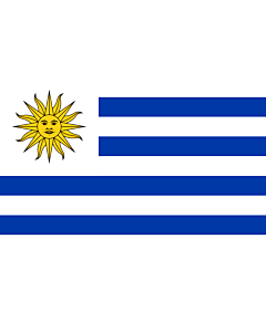 Bandera: Uruguay |  bandera paisaje | 0.375m² | 50x75cm